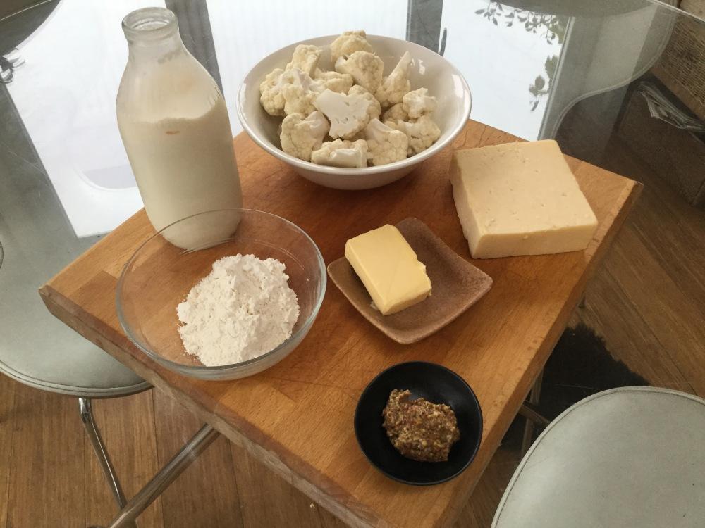 カリフラワーチーズの材料