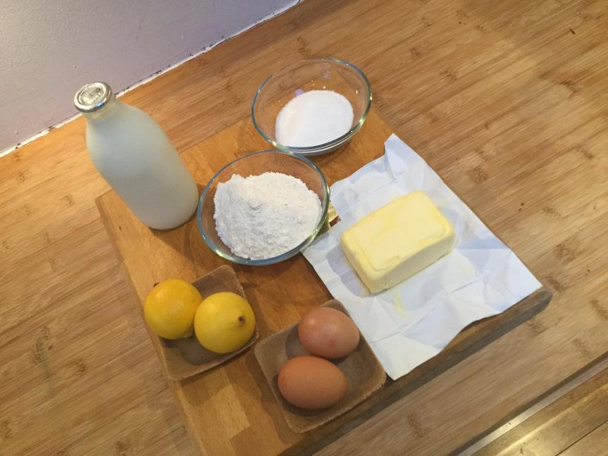 イギリスのパンケーキの材料